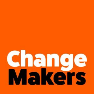 Change Makers (Text on orange background)