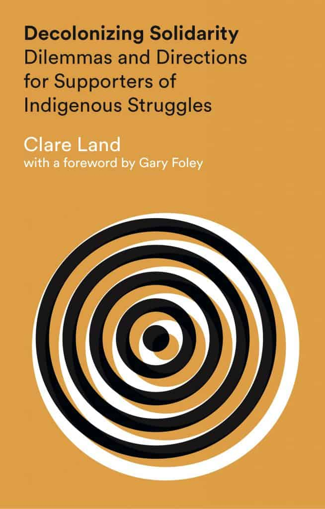 Cover of Clare Land's Decolonizing Solidarity: Dilemmas and Directions for Supporters of Indigenous Struggles