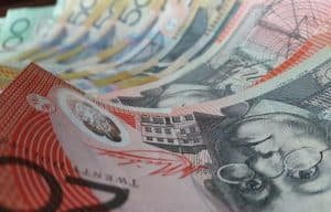 An close up image of Australian $20 and $50 bank notes