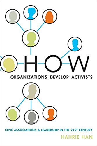 Cover of the book 'How Organizations Develop Activists'.