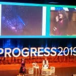 Anat Shenker-Osorio speaking on stage at the Progress 2019 conference in Melbourne.