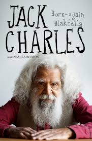 portrait of Jack Charles on front of book cover