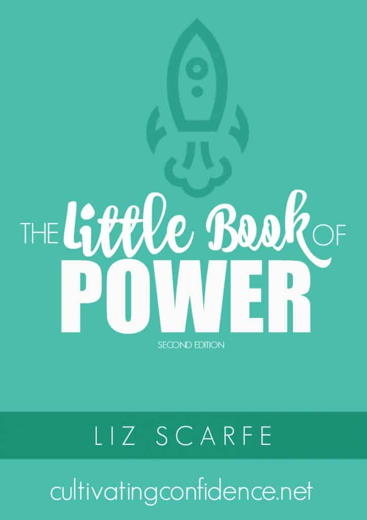 Cover of The Little Book of Power featuring a drawing of a rocket taking off.