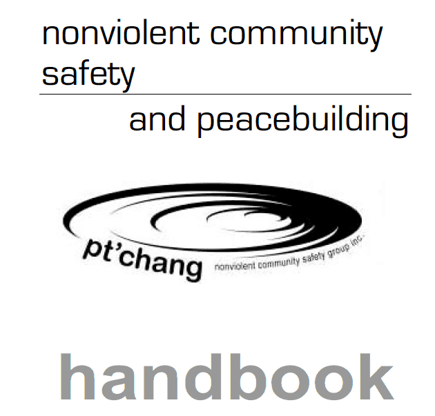 Cover of the Pt'chang Nonviolent Community Safety and Peacebuilding Handbook