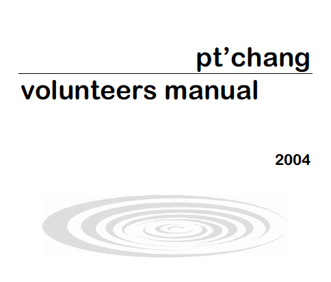 Cover of the Pt'chang Volunteers Manual.