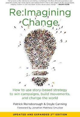 Cover of the Re:Imagining Change book featuring a picture of a light globe made up of several people.