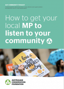 How to get your local MP to listen to your community