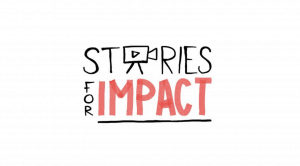"title page of presentation ""Stories for impact"""