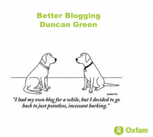 "cartoon of two dogs - one says to the other ""I had my own blog for a while, but I decided to go back to blatant, incessant barking."""