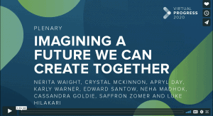 Screenshot of title slide of 'Imagining a Future We Can Create Together'.