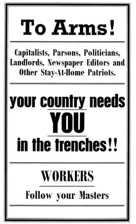 Poster: 'To Arms! Your country needs YOU in the trenches!!'