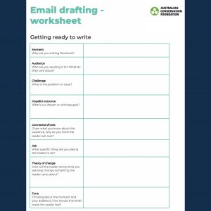 email drafting worksheet form