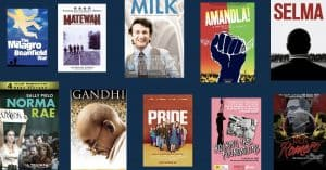 ten dvd covers of movies about social movements struggles and leaders